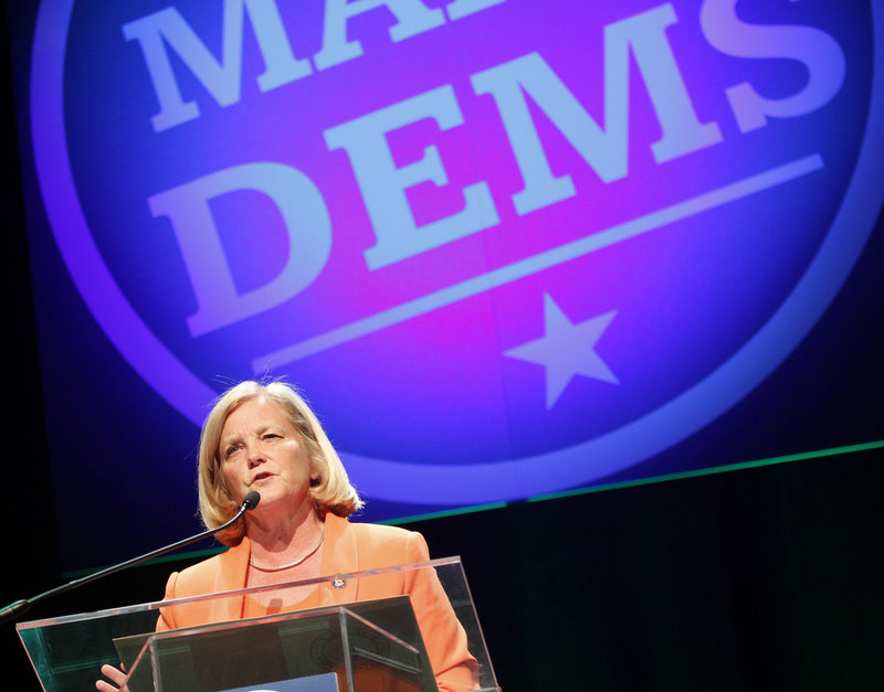 U.S. Rep. Chellie Pingree tells the state convention: