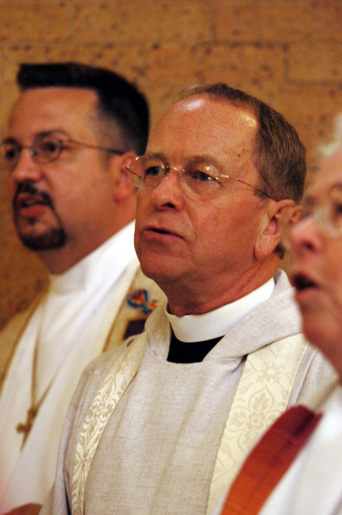 "The Rev. V. Gene Robinson, the Episcopal bishop of New Hampshire, sees ""momentum"" in Maine for same-sex marriage."