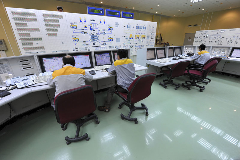 Iranian technicians work at the Bushehr nuclear power plant in this 2010 photo released by the Iranian government. The malicious computer worm known as Stuxnet targeted Iran's nuclear program, although officials there said it was unsuccessful. The White House is declining to comment.