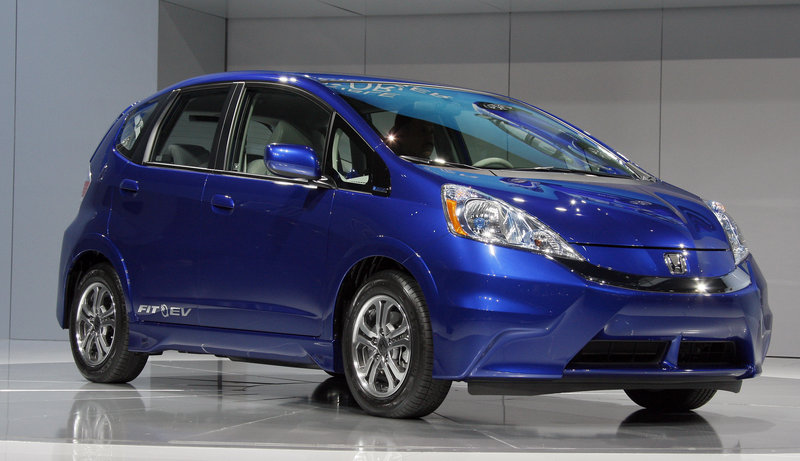 The all-electric 2013 Honda Fit EV when charged can go 82 miles. It will be the most fuel-efficient car in the U.S. at the equivalent of 118 miles per gallon.