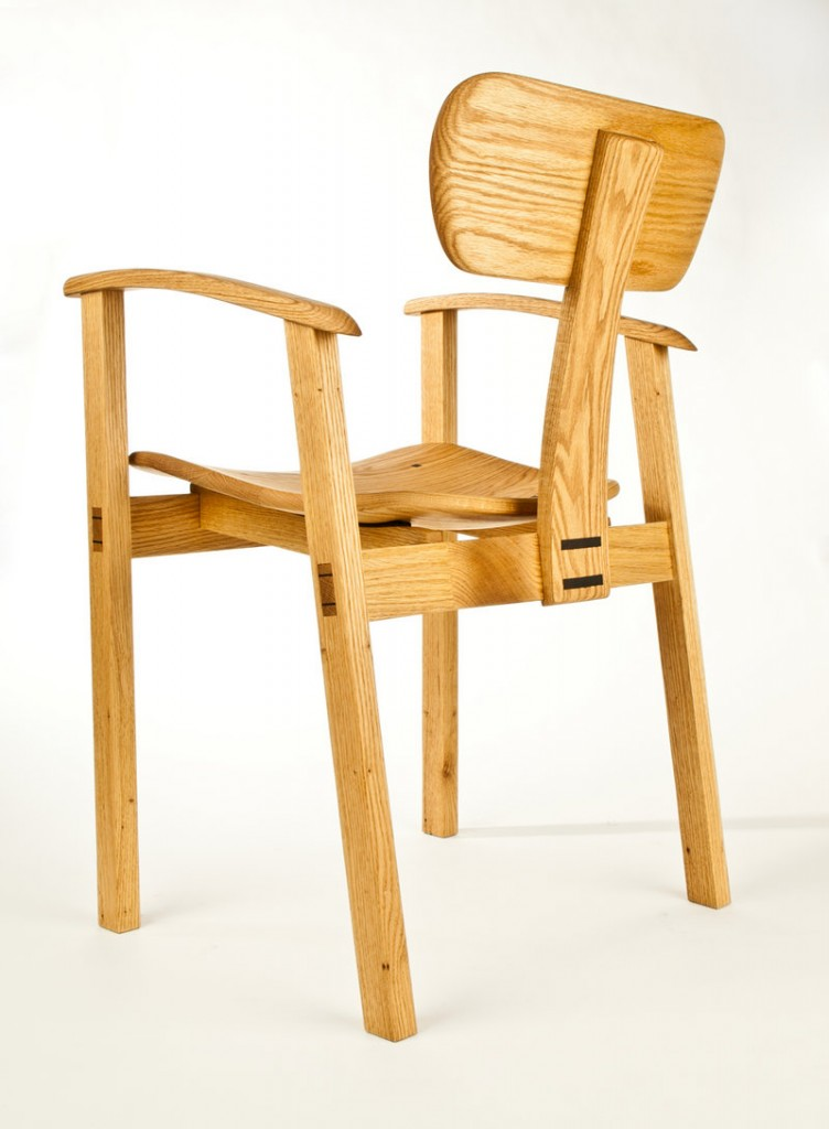 Oak chair by Steven Anderson.