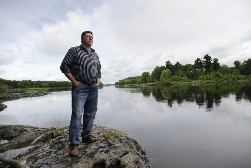 """James Eric Francis Sr., the historian for the Penobscot Indian Nation, says the removal of the Great Works Dam, near Indian Island in the Penobscot River, is important to the tribe because it will allow """"the fish species to come back to reservation waters."""""""