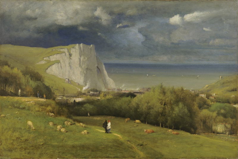 """""""Etretat"""" by George Inness, oil on canvas, 1875."""