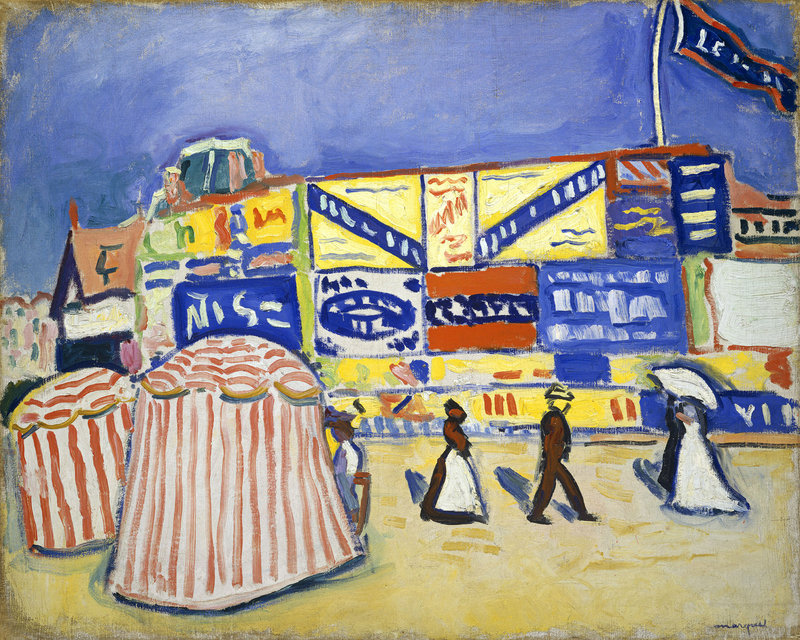 """""""Posters at Trouville,"""" by Albert Marquet, oil on canvas, 1906."""