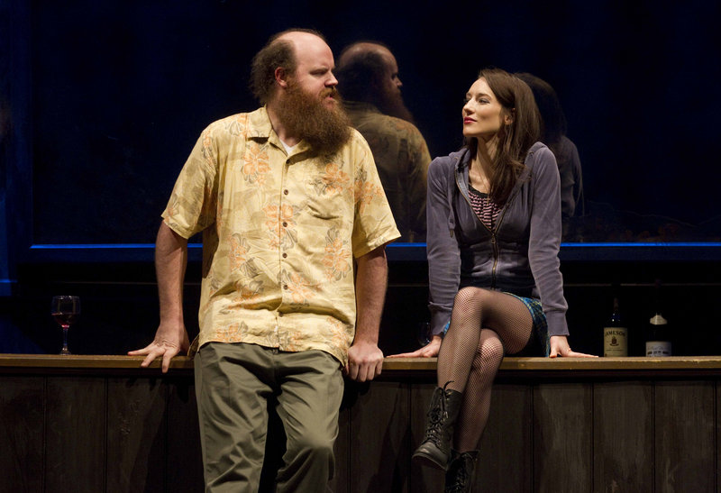 """Paul Whitty and Elizabeth A. Davis in """"Once."""
