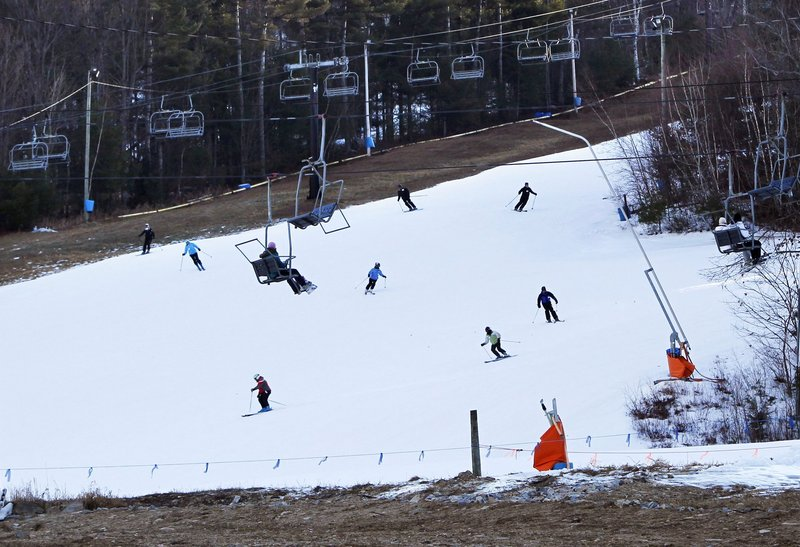 Shawnee Peak in Bridgton and other Maine ski areas suffered from a lack of snow this winter. That's one reason to limit global warming pollution, a reader says.