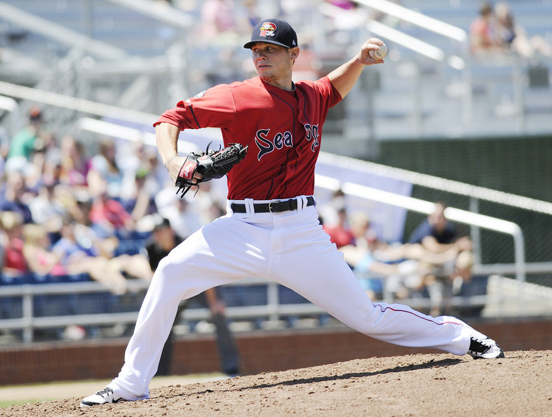 Drake Britton will pitch for the Sea Dogs on Thursday at Hadlock Field. He's one of the pitchers with lots of promise in the Red Sox organization.