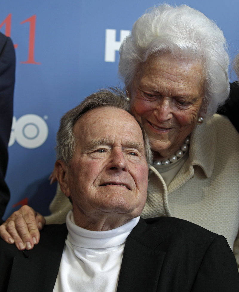 Former President George H.W. Bush and his wife, Barbara, arrive in Kennebunkport on Tuesday for another special birthday celebration.