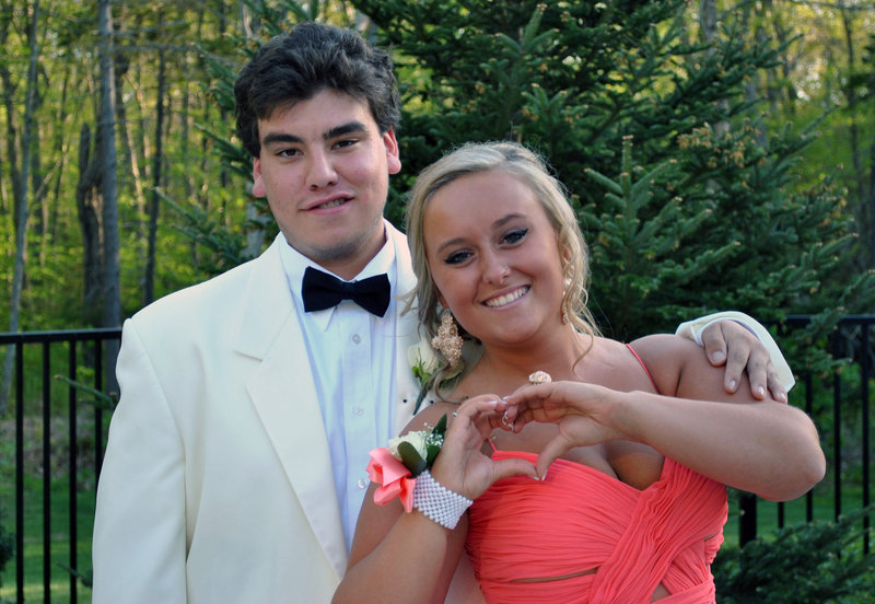 Casey Morang and Mary Coleman attended the Cape Elizabeth High prom.