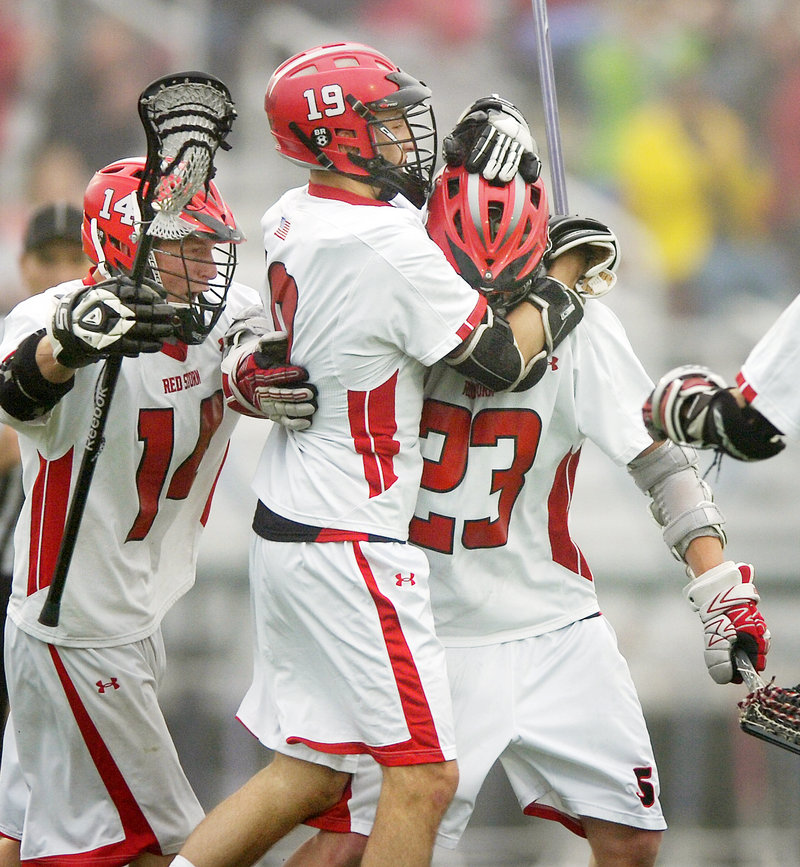 Scarborough's boys' lacrosse team will be seeking its third straight Class A title and fifth in seven years when it faces Cheverus today – one of four lacrosse state championship games at Fitzpatrick Stadium.