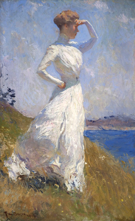 """Frank W. Benson's """"Sunlight,"""" 1909, oil on canvas, from """"Impressionist Summers"""" at the Farnsworth."""