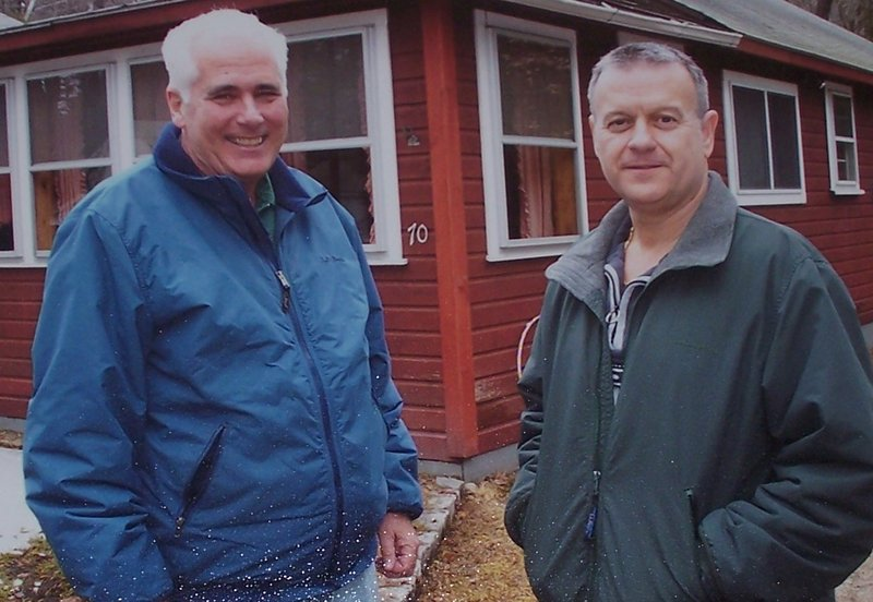 "Carroll ""Sonny"" Googins, left, and partner Ron Trell spend time in 2004 at a place they loved to visit, Sebago Lake."