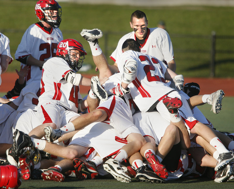Celebrating never gets old for the Scarborough boys' lacrosse team, which beat Cheverus 9-4 on Saturday for its third straight Class A state title and fourth in five seasons.