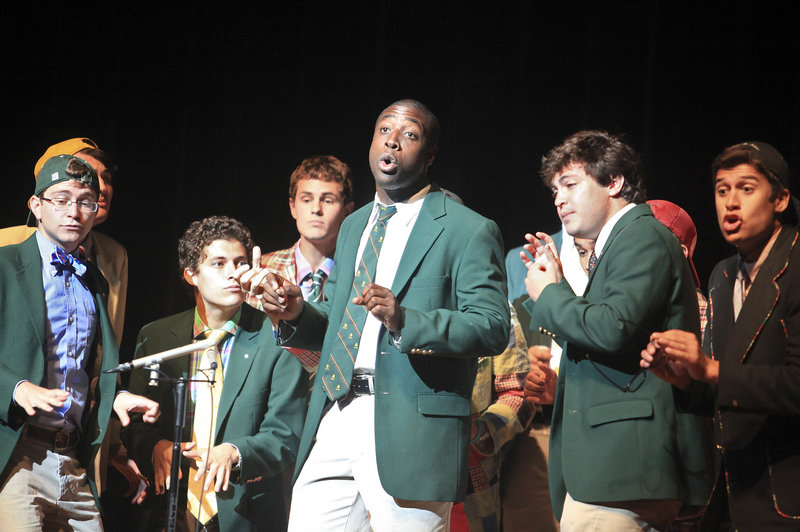 "Michael Odokara-Okigbo of Portland performs with the Dartmouth Aires at ""A Celebration of Dreams,"" a kickoff concert for the Greater Portland Festival of Nations, on Sunday at Merrill Auditorium. Odokara-Okigbo donated $1,000 from his Mugadi Foundation to the Boy Singers of Maine for scholarships."