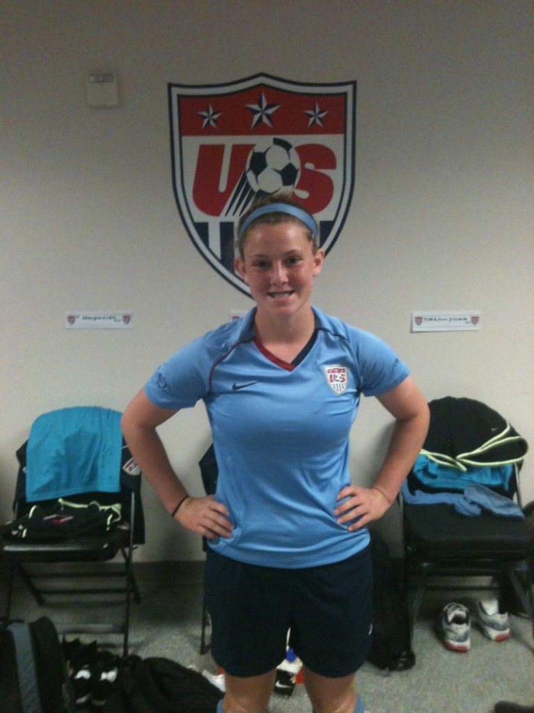 Katy Bryan of Sanford was one of two Maine girls who participated in the U.S. Youth Soccer Association's U-14 national training camp in Carson, Calif.