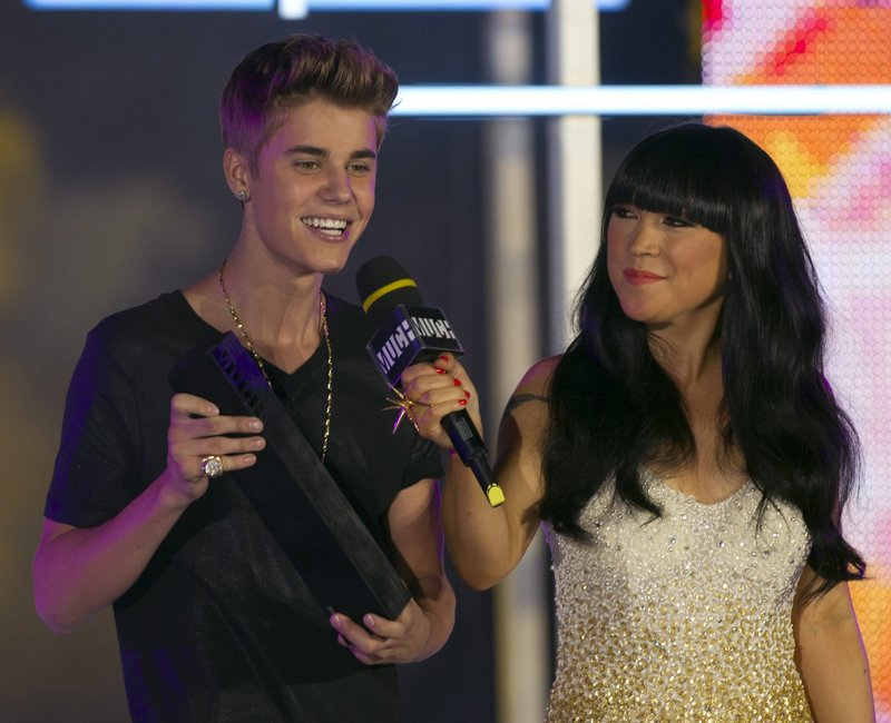 Justin Bieber with Lauren Toyota
