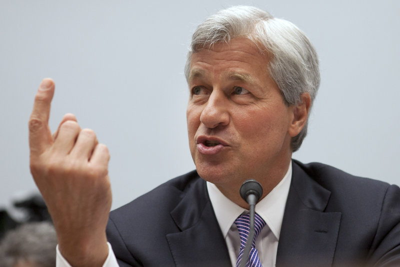 Jamie Dimon, CEO of JPMorgan Chase, testifies Tuesday in Washington.
