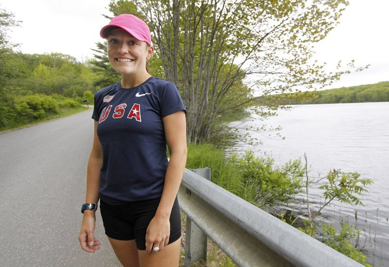 Lauren Forgues, seen in early June, is competing in the Olympic qualifying racewalk Sunday. Forgues, 24, also competed in the 2008 Olympic trials but had to withdraw after knee injuries.