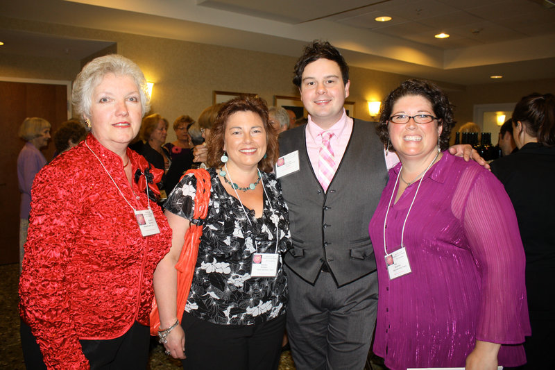 Convention Chair Suzanne Bushnell with members of the Maine State Music Theatre, including Development Director Barbara Whidden, resident costume designer Kurt Alger and costume rental manager Amy Mussman.