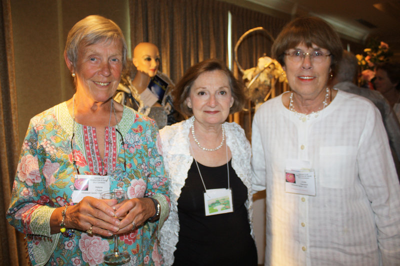 Harpswell Garden Club members Helene Chase, Lynn Reiner and Linda Clement.
