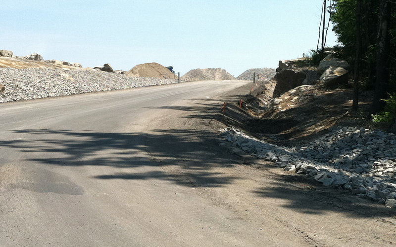 Busque Quarry blasting has sparked complaints from neighbors, prompting company officials to meet with a dozen neighbors and DEP officials Thursday morning.