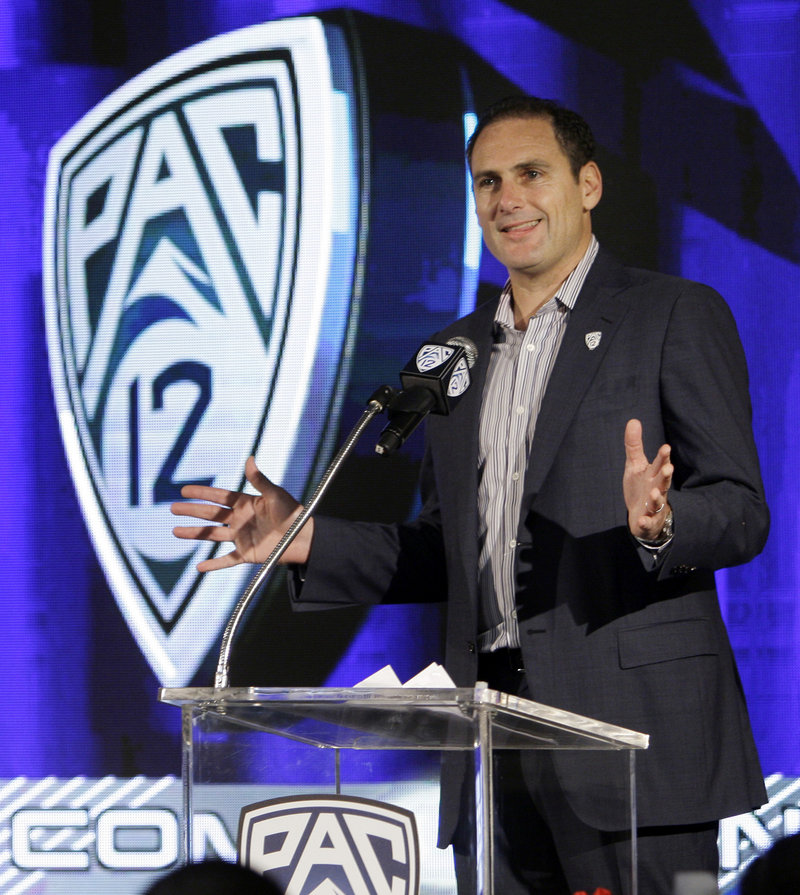 With Larry Scott at the helm of the Pac-12, the league has changed its conservative approach and has dropped its opposition to a playoff.