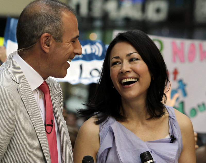 "NBC ""Today"" co-hosts Matt Lauer and Ann Curry appear during the show. NBC reportedly is discussing a plan to ease Curry out of the co-hosting role."