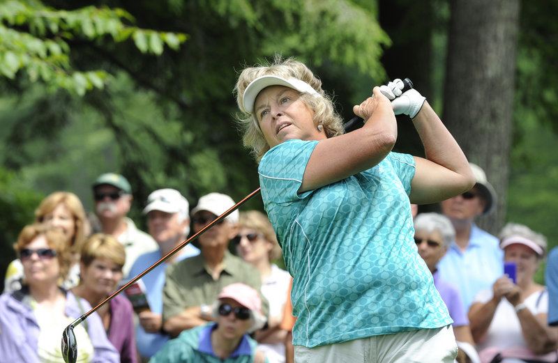 Three-time U.S. Women's Open champion Hollis Stacy finished tied for the ninth in the Hannaford Community Challenge at 3 over.