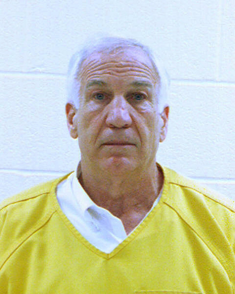 Jerry Sanduski in county jail on Saturday.
