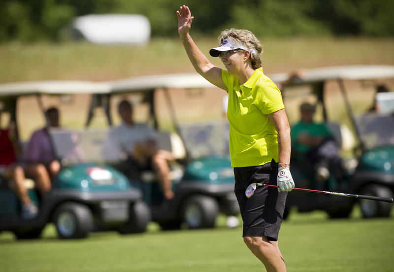 Sherri Turner, the winner of the Hannaford Community Challenge, was the only player to break 70 during the Legends Tour event at Falmouth Country Club.