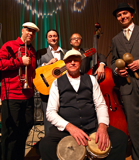 The five guys in Primo Cubano play a wide array of instruments such as trumpet, tres Cubano, claves, bass, maracas, timbales and congas.