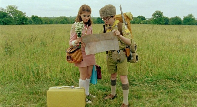"Jared Gilman and Kara Hayward in ""Moonrise Kingdom."""