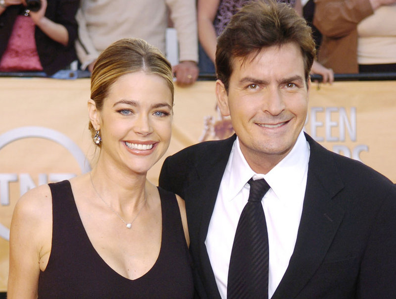 "Denise Richards and Charlie Sheen, shown in 2005, say that -they're ""like best friends now."" They divorced in 2006 and have two young daughters together."