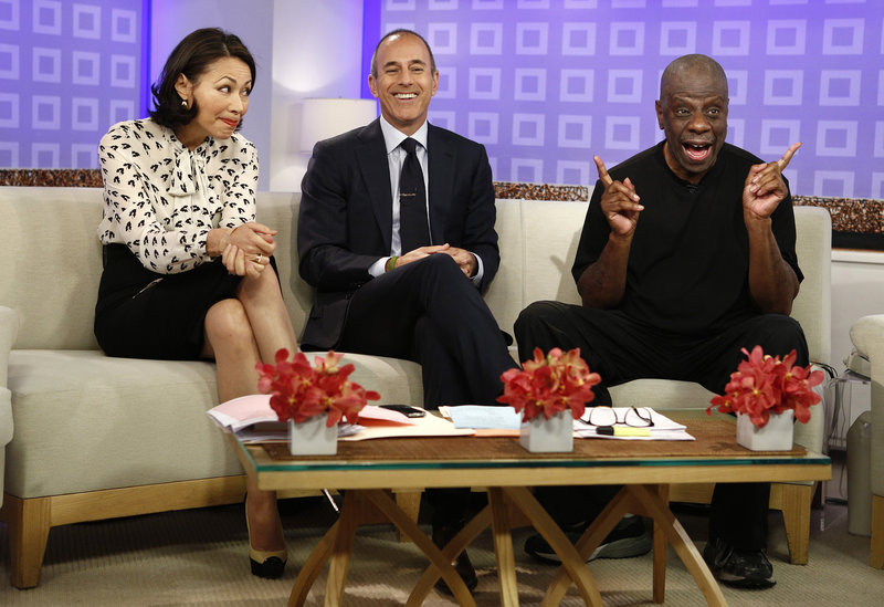 "Co-hosts Ann Curry and Matt Lauer appear on the ""Today"" show Tuesday in New York. Her departure Thursday ended a week's worth of awkward television. At right is actor Jimmie Walker."