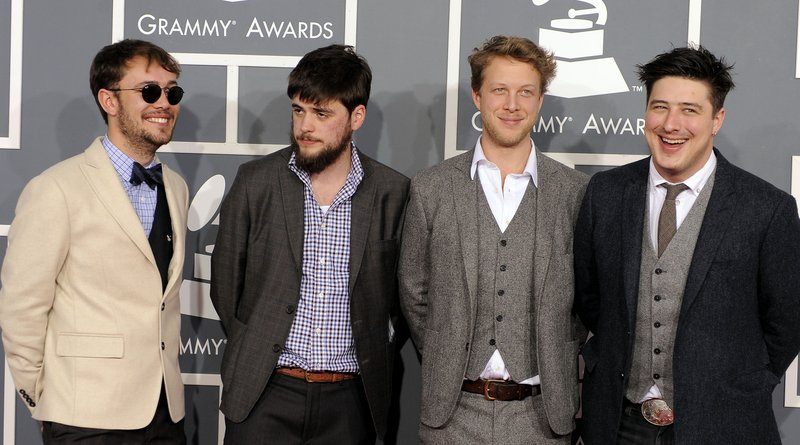 Mumford & Sons arrives at the 54th annual Grammy Awards in Los Angeles in February.