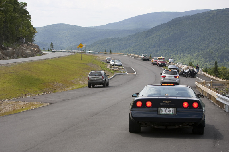 The first phase of work around the Height of Land scenic overlook on Route 17 near Rangeley allows motorists to pull over and enjoy the view without worrying about the logging traffic that would prove dangerous without the addition.