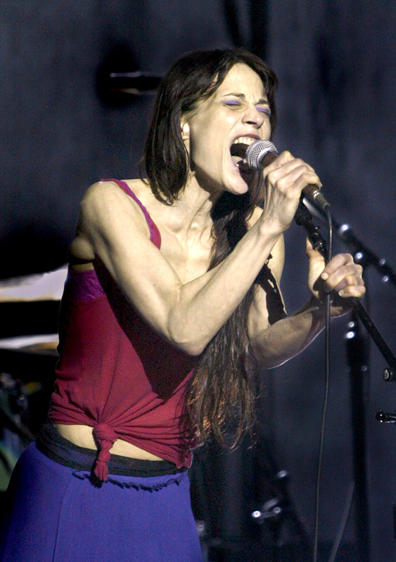 Fiona Apple belts out a tune at the State Theatre in Portland on Sunday night.