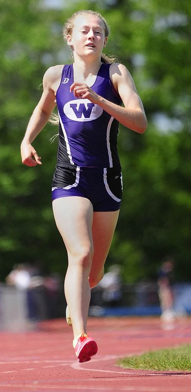 Bethanie Brown of Waterville was the best girls' outdoor track performer in Maine and one of the best in New England, and she still has a senior season to go.