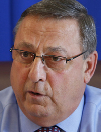 """Gov. Paul LePage: """"I just know that I'm a product of the American dream. I came from nothing and have been modestly successful. I have not had to worry about the IRS telling me I have to do things. I'd like to have my independence."""""""