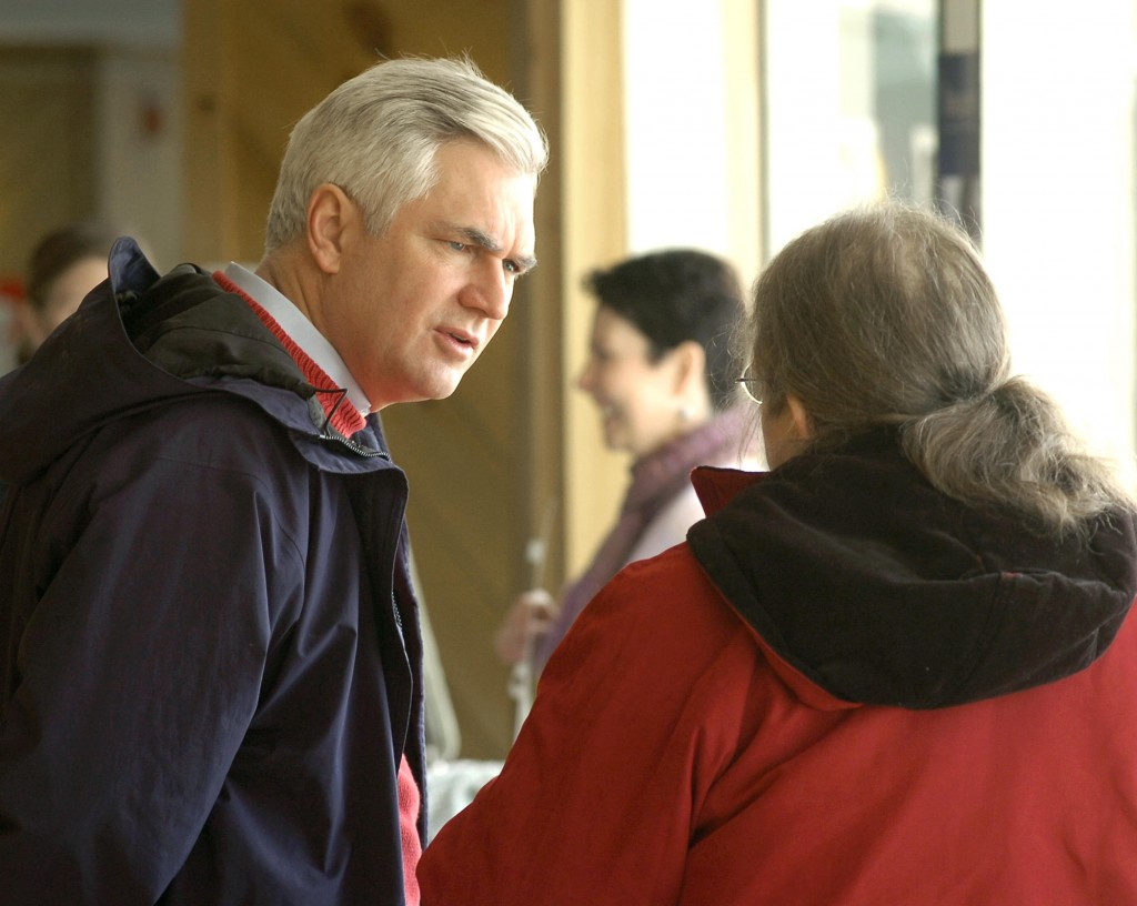 In this Press Herald file photo, former Maine attorney general Steven Rowe speaks to a group of Family Crisis Services workers in Bridgton. Rowe has been picked to lead New Hampshire's largest health foundation.