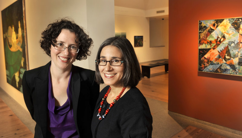 Jessica May, left, and Karen Sherry are new to the Portland Museum of Art's curatorial staff.