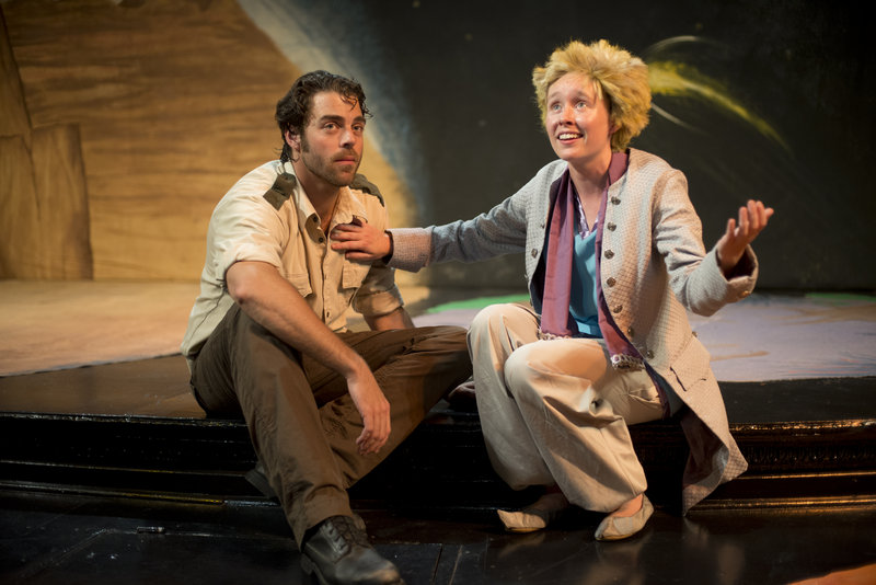 """Matthew Delamater and Anna Doyle in Theater at Monmouth's """"The Little Prince,"""" on stage Saturday and continuing in repertory through Aug. 17."""
