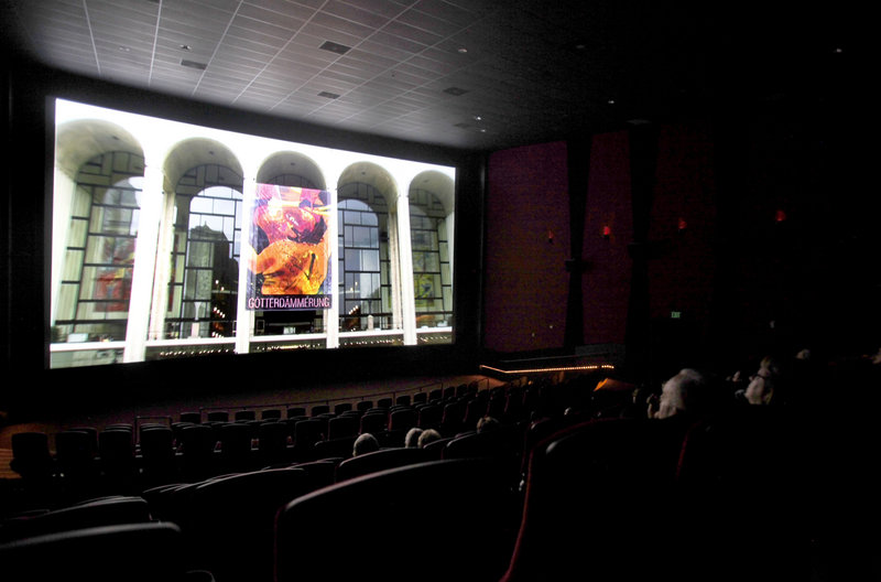 "A screening of the New York Metropolitan Opera's production of Wagner's ""Twilight of the Gods"" begins at an AMC theater in Burbank, Calif. The programming of more so-called alternative content is proving to be a trend among theaters nationwide."