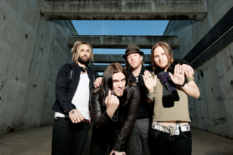 Shinedown performs with Papa Roach and Adelitas Way today at the Bangor Waterfront Pavilion.
