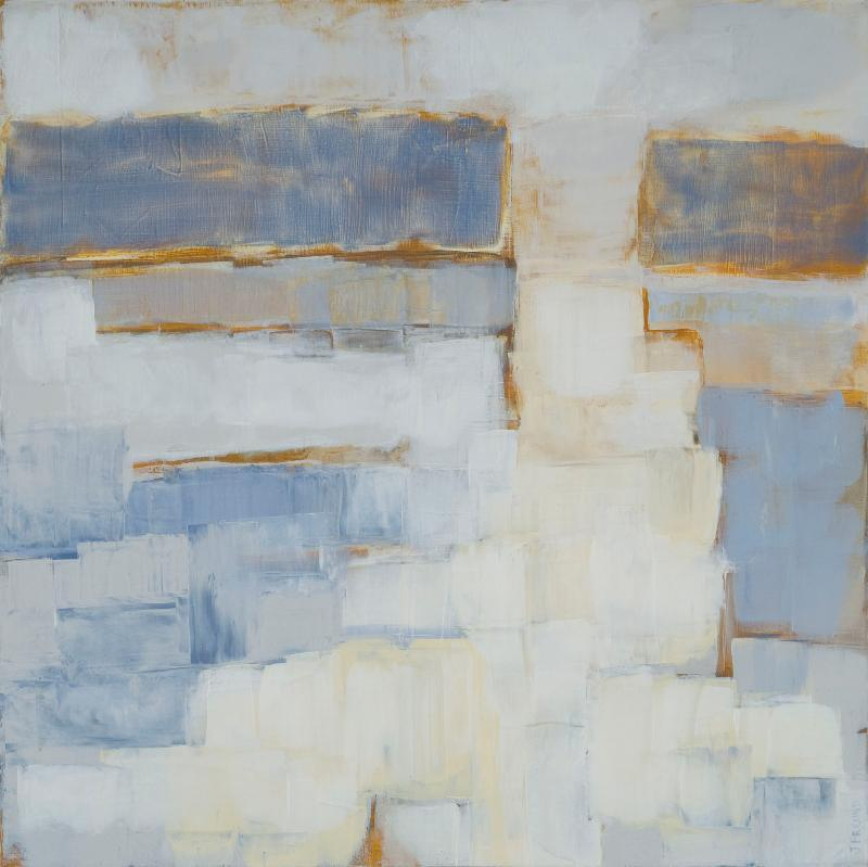 """""""Refraction"""" by Julie Freund, from her exhibition """"Continuum,"""" up through July 15 at Elizabeth Moss Gallery in Falmouth. Also showing at Elizabeth Moss is Cooper Dragonette's """"Casco Bay to Machias Bay."""""""