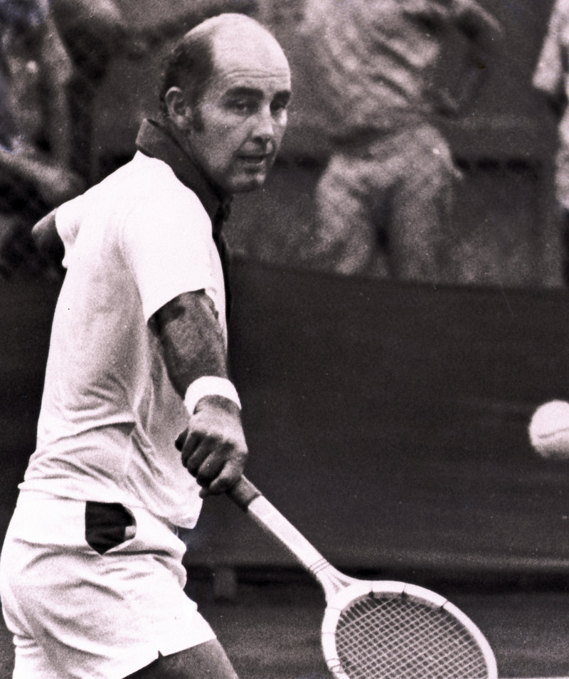 Bob Hewitt, shown in 1973, entered the Rhode Island-based International Tennis Hall of Fame in 1992. He's now the subject of an investigation that could result in his suspension.
