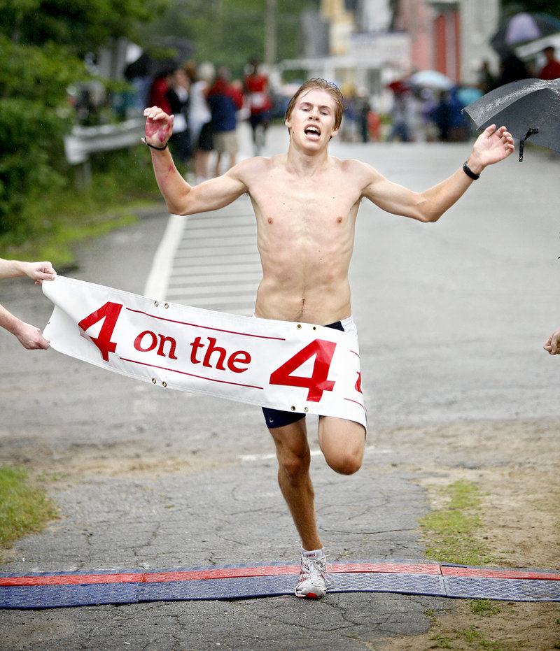 Silas Eastman, who still has a year remaining at Fryeburg Academy, was a first-time winner Wednesday at the Bridgton Four on the Fourth rad race, capturing the 4-mile race in 21 minutes, 33 seconds.