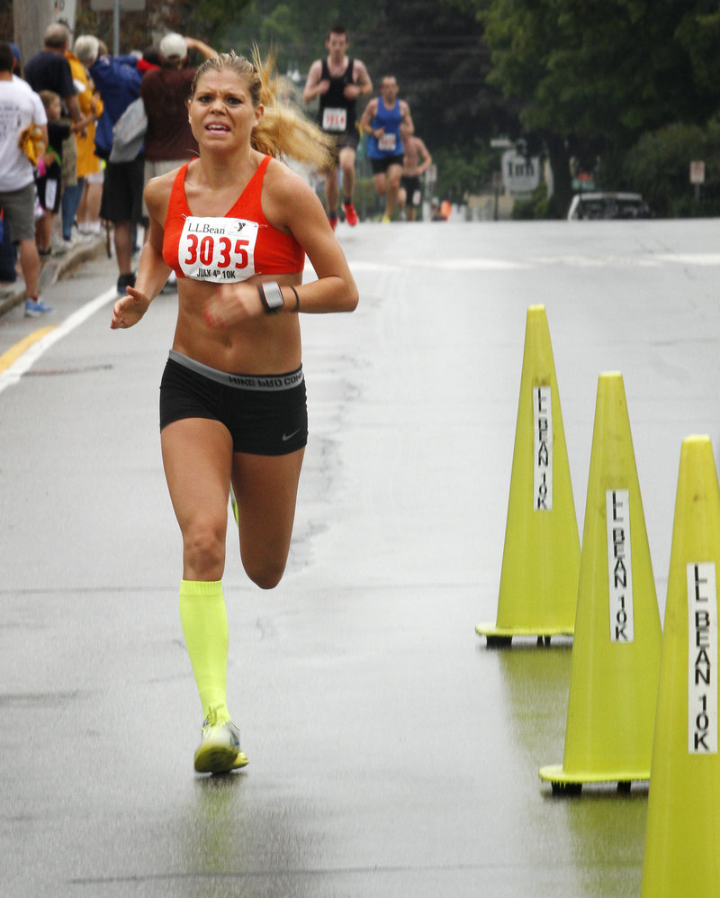Erica Jesseman of Scarborough proved to herself that she was ready to go hard in a 10K road race again after Achilles tendinitis.