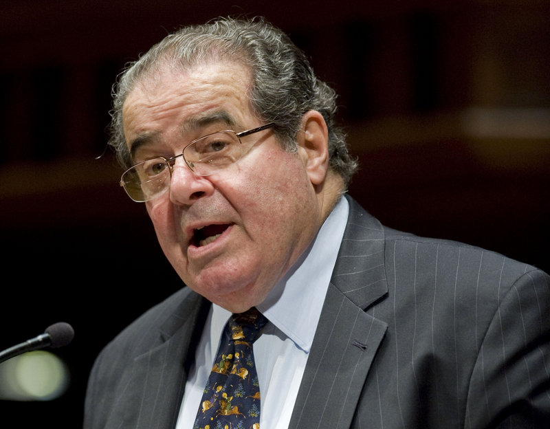 Justice Antonin Scalia, long known for his aggressive questioning, made statements this term that stood out to court observers as more political than usual.