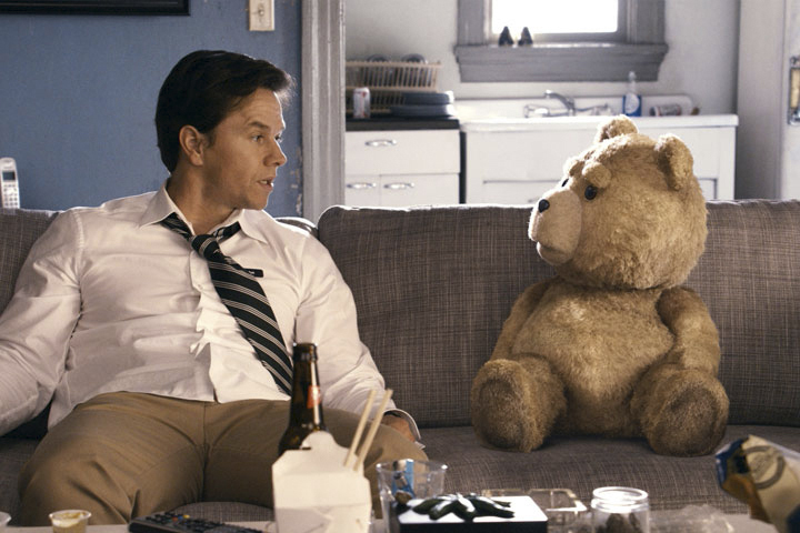 """The music of Tim Mercer of Portland, below, is featured in the film """"Ted,"""" starring Mark Wahlberg and an animated bear."""